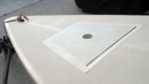 laser mast step repair kit installed by Diversified Fiberglass