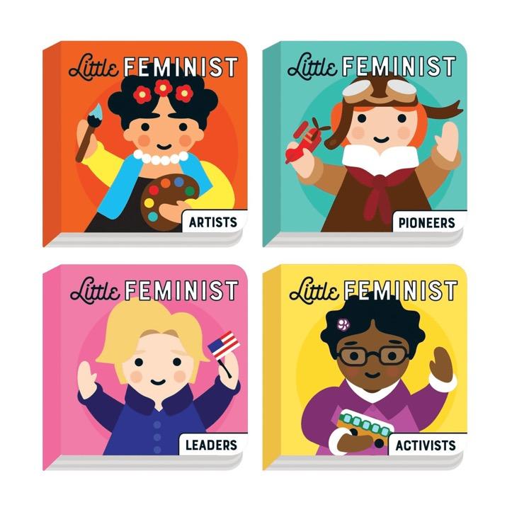 Little Feminist Board Book Set 4 knihy