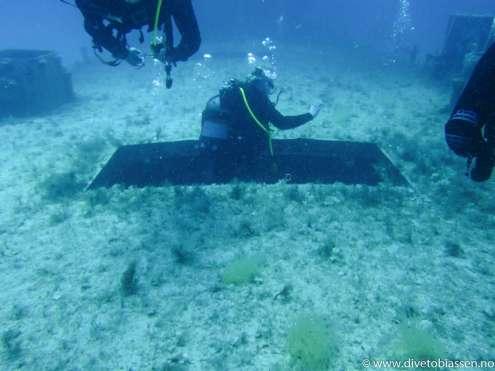 Inngang, luke, akterdekk, dykker