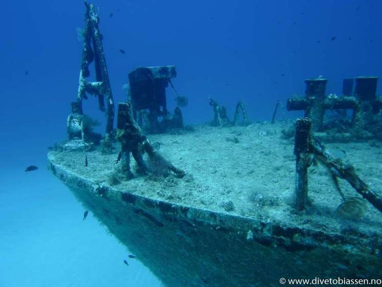 Babord baug, detaljer, dykkerferie med PADI
