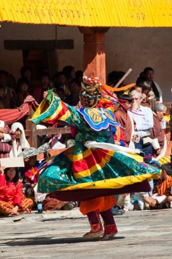 Bhutanese Buddhist festival dancers