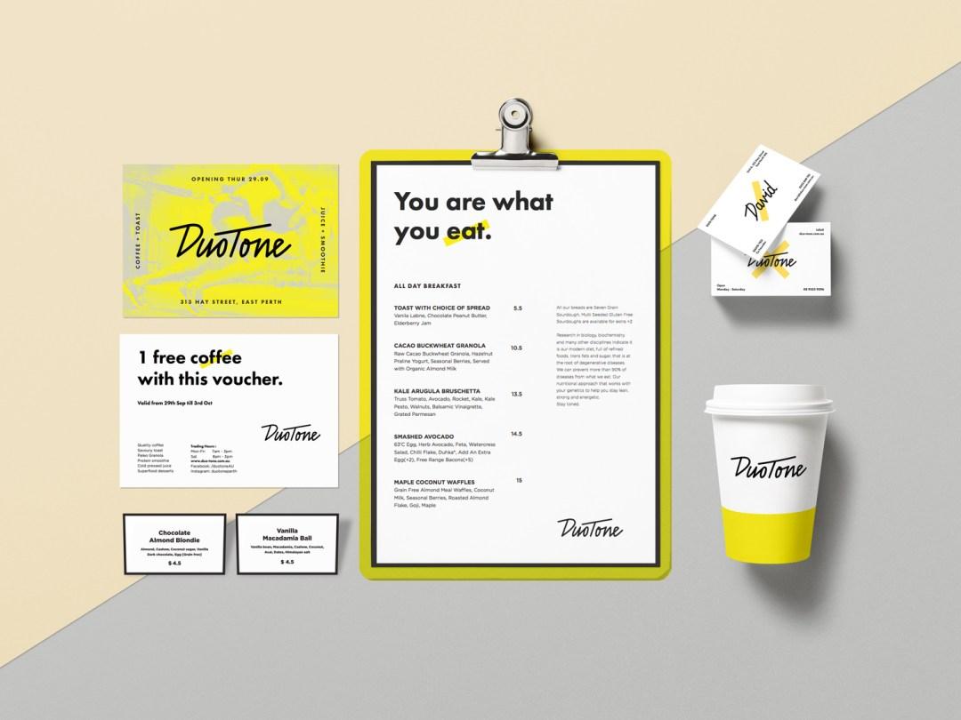 Duotone Branding Mockup sml