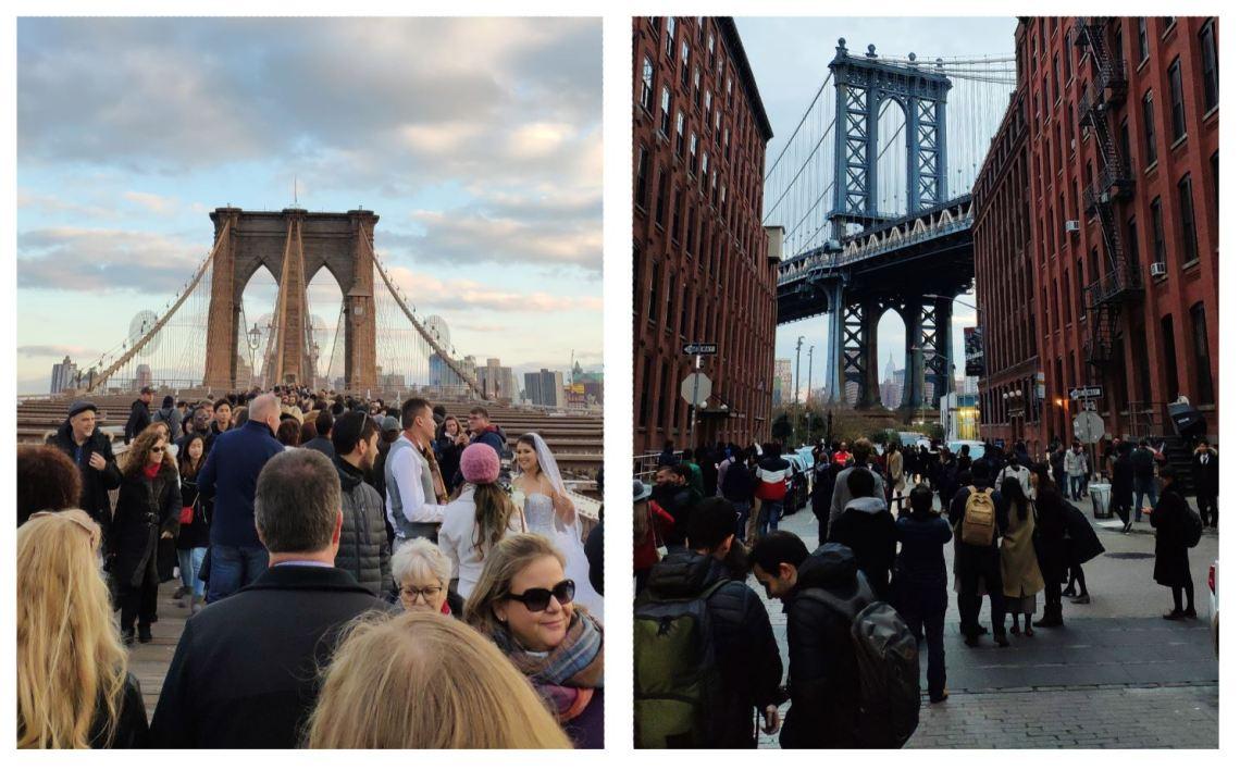 Puente de Brooklyn y Washington St a rebosar