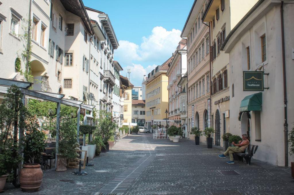Una calle de Bolzano