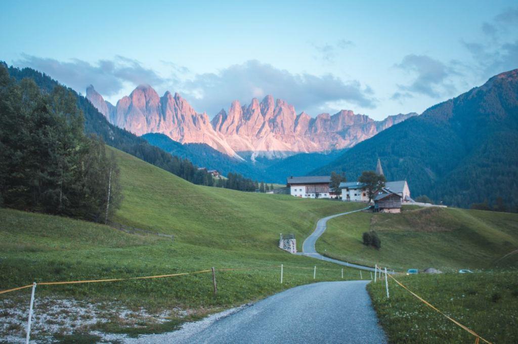 Que ver en Dolomitas: enrosadira