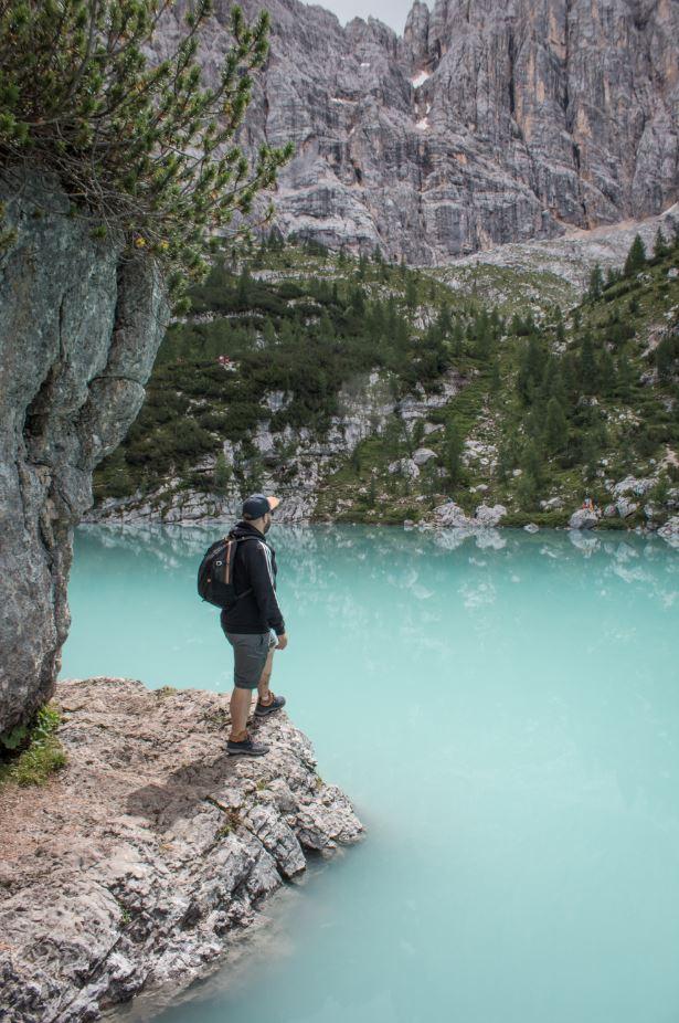 Observando el Lago Sorapis 2