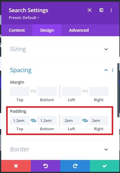 Spacing Search Module
