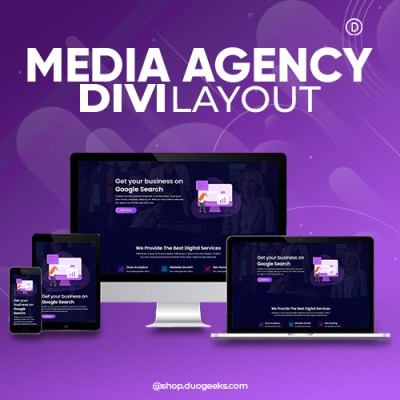 Divi Media Agency Layout