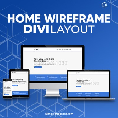 Divi Wireframe Layouts