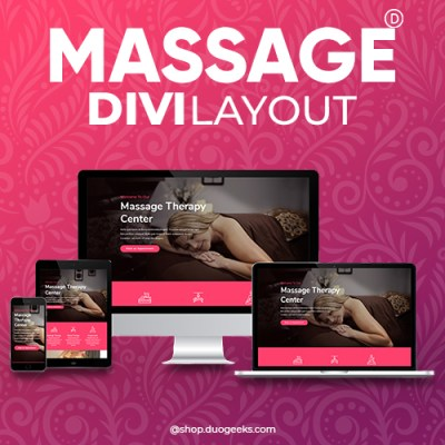 Divi Massage Layout Elegant