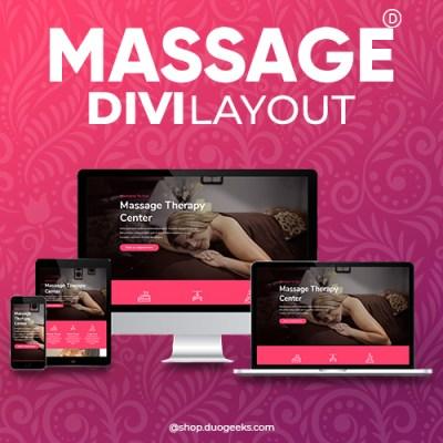 Divi Massage Layout Elegant