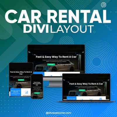 Divi Car Rental Layout