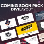 Divi Coming Soon Layout Pack