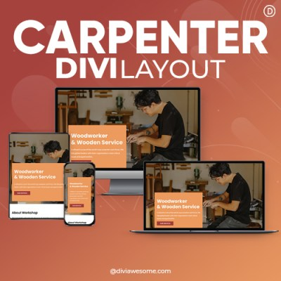 Divi Carpenter Layout