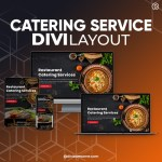 Divi Catering Service Layout