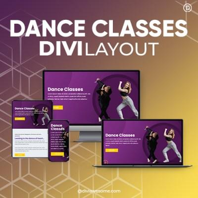Divi Dance Classes Layout