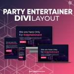 Divi Party Entertainer Layout