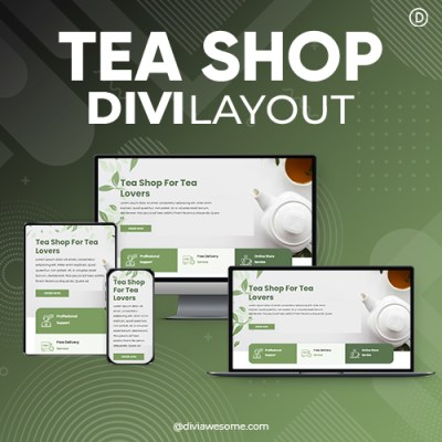 Divi Tea Shop Layout