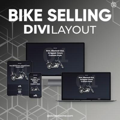 Divi Bike Selling layout
