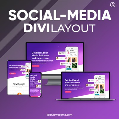 Divi Social Media Layout