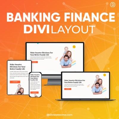 Divi Banking Finance Layout