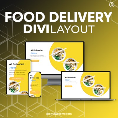 Divi Food Delivery Layout
