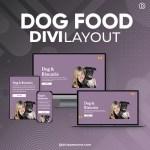 Divi Dog Food Layout