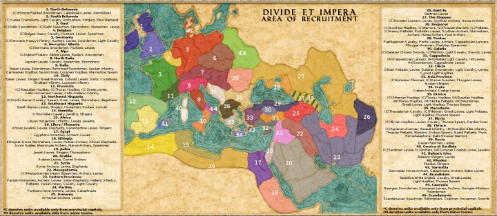 Area of Recruitment (AOR) - Divide et Impera