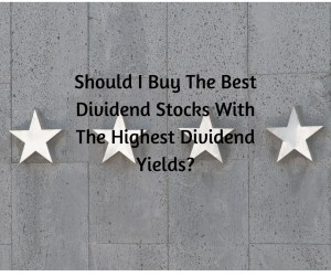 Should I Buy The Best Dividend Stocks With The Highest Dividend Yields
