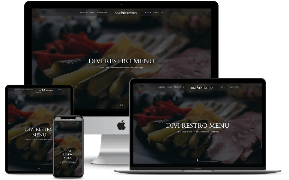 Divi modern restaurant theme
