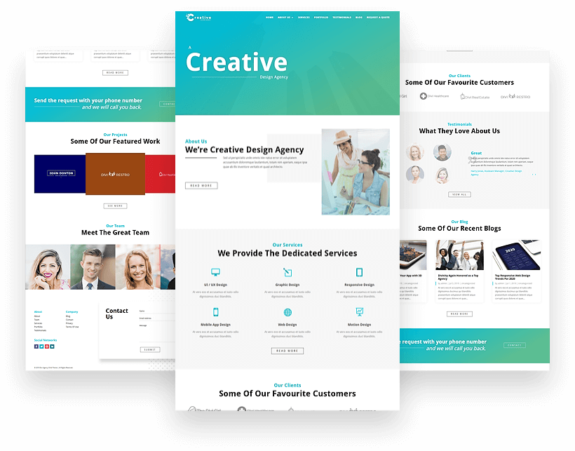 Divi Classic Agency child theme for agency websites