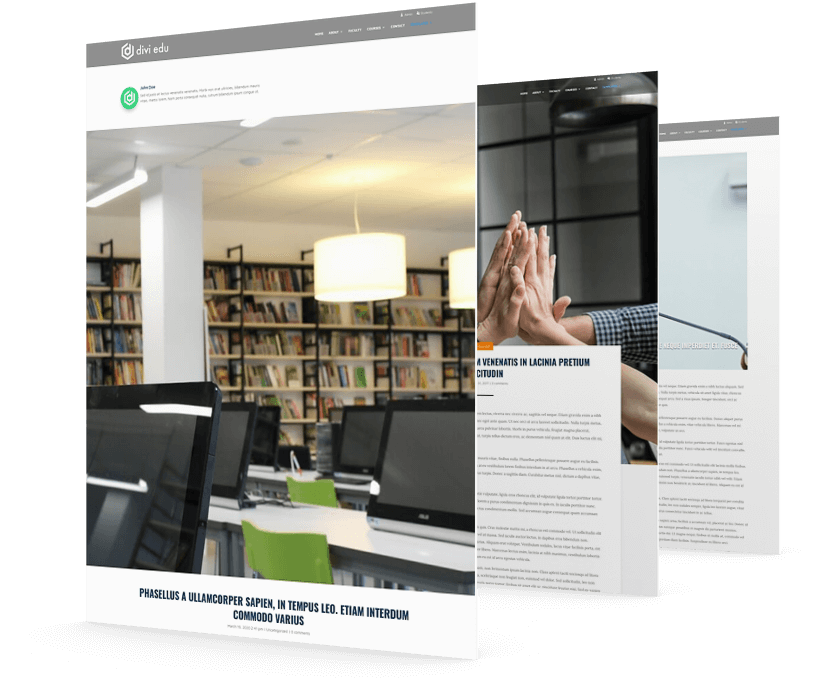 Divi child theme for education websites
