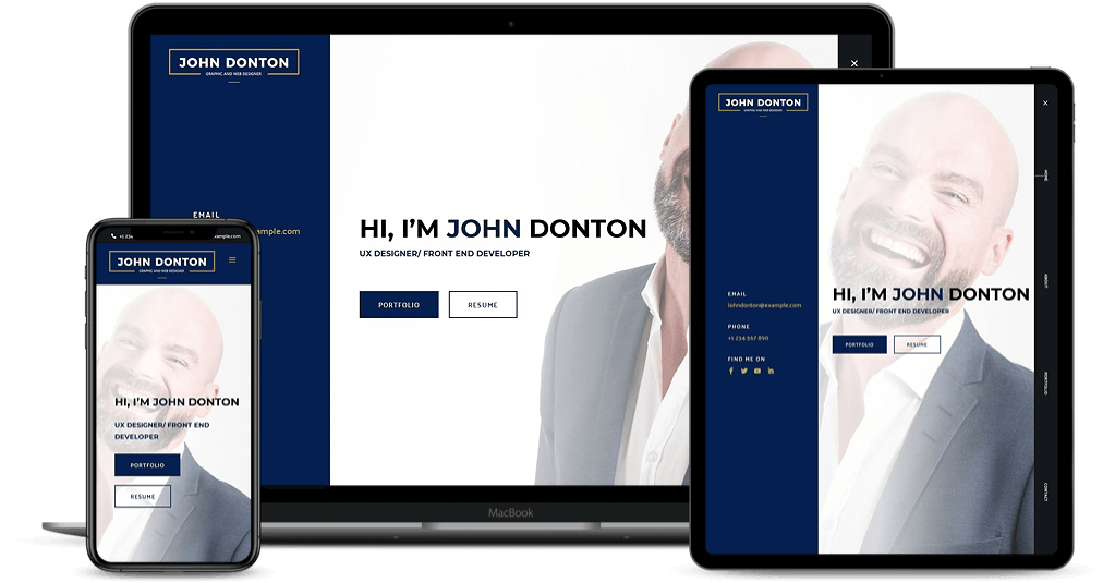 Divilancer child theme for portfolio website