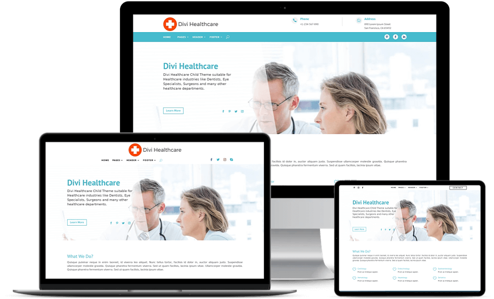 divi child theme for doctors