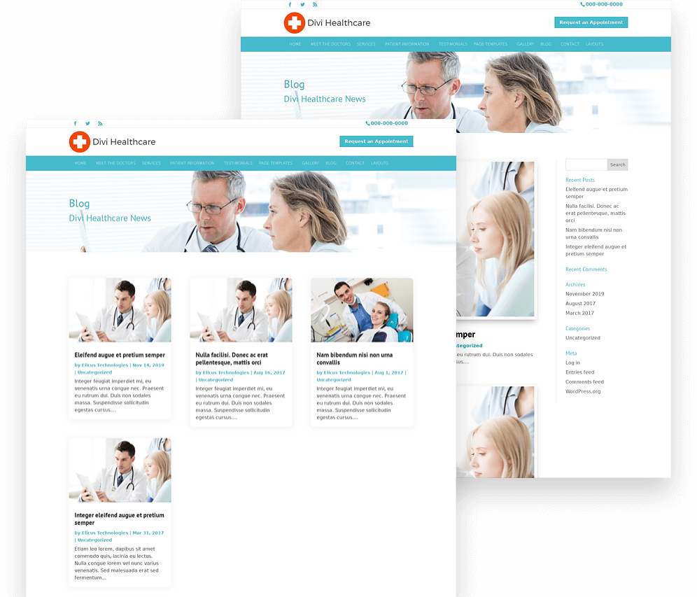 divi child theme for hospitals