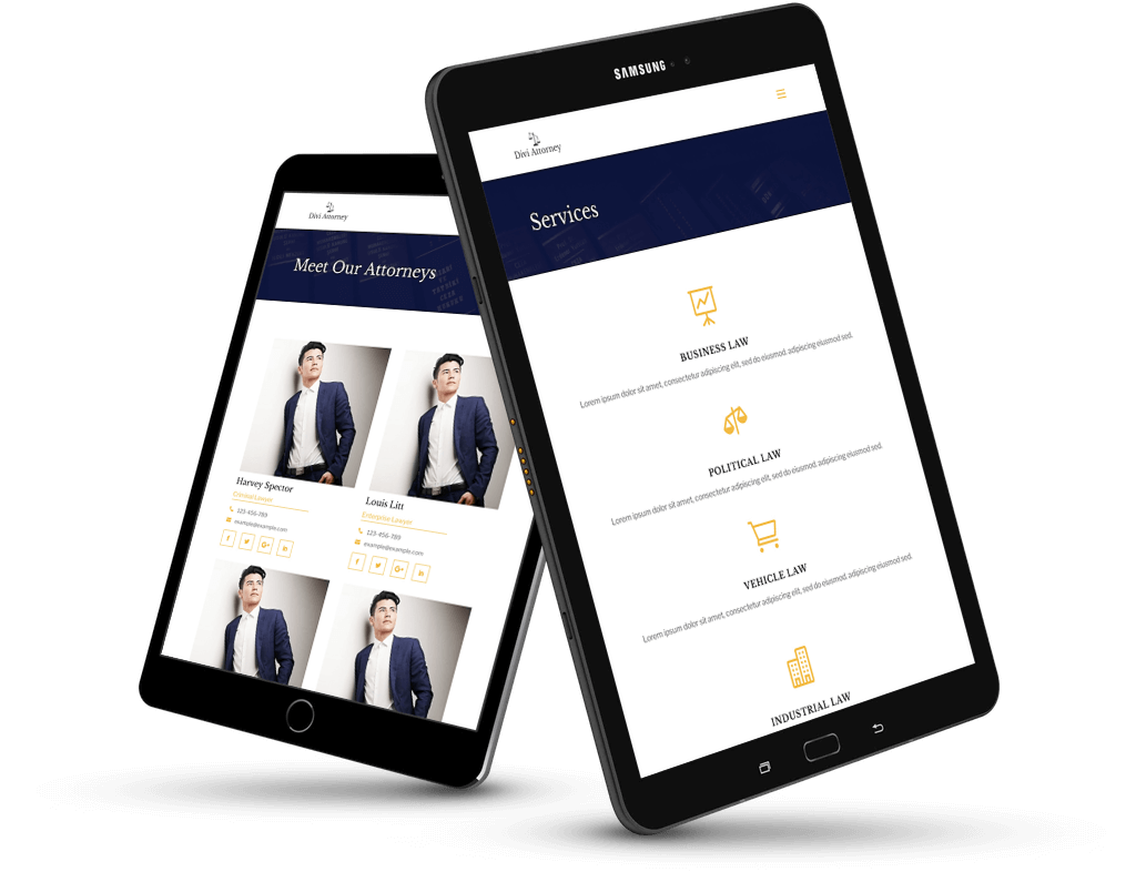 divi website for lawyers
