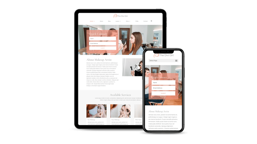 Divi Girl feminine theme