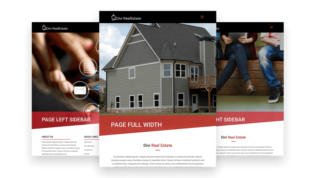 Divi real estate theme