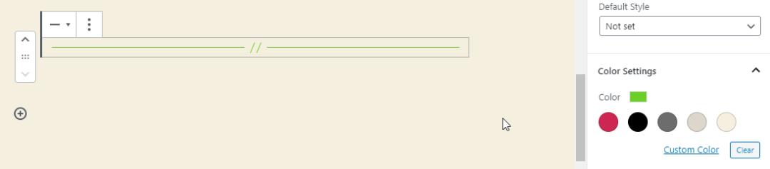 WordPress 5.3 separator block color