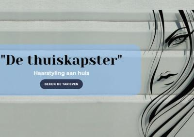 One page lay-out voor de thuiskapster
