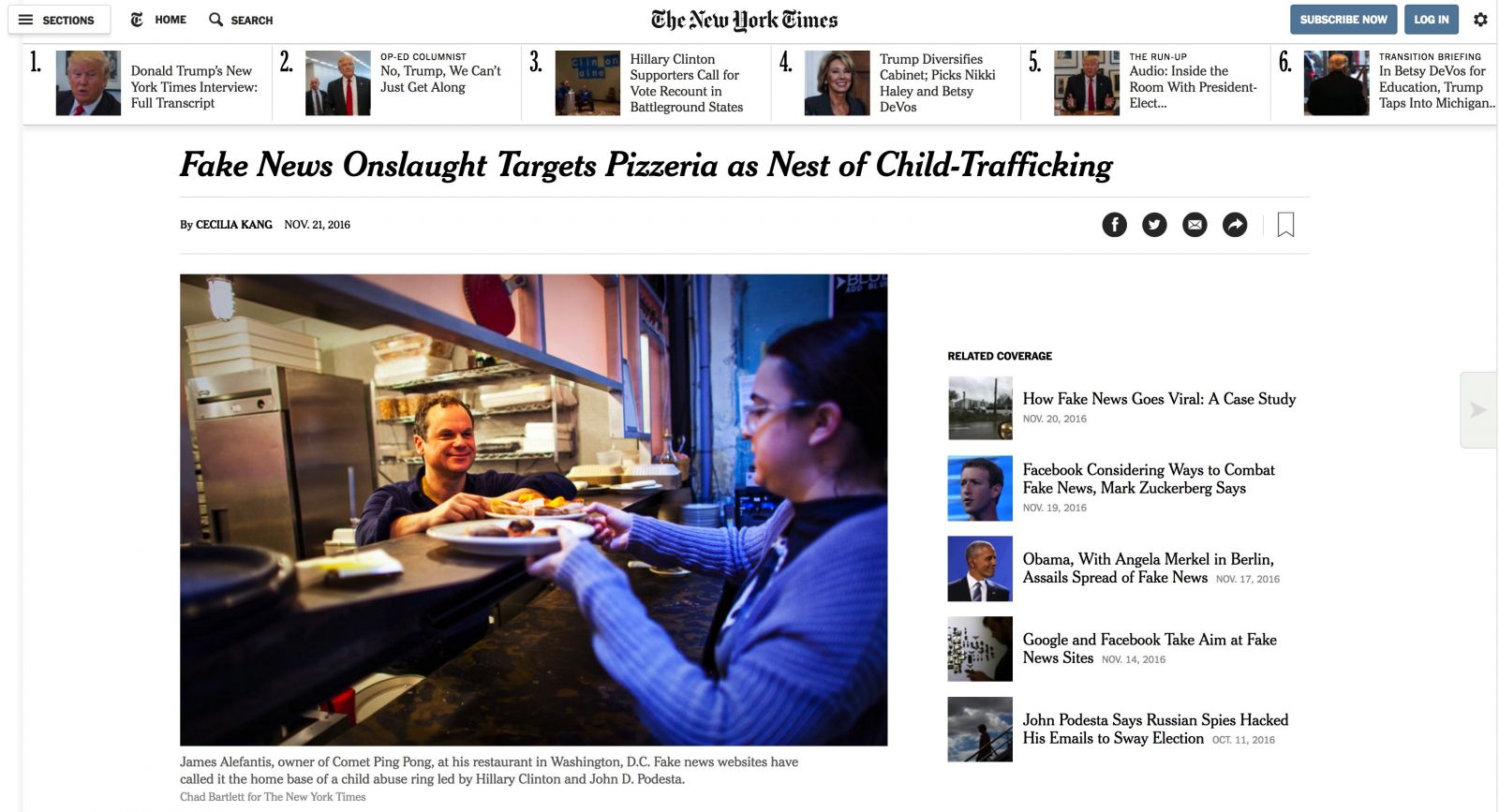 """But of course, this is just a tragic example of """"how fake news is hurting  real people"""" — so says the New York Times."""