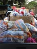 25 baskets & 4 huge sacks of shoes