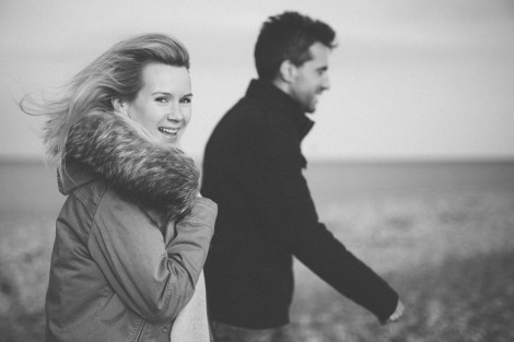 Engagement Shoot by the Seaside in Dungeness Kent