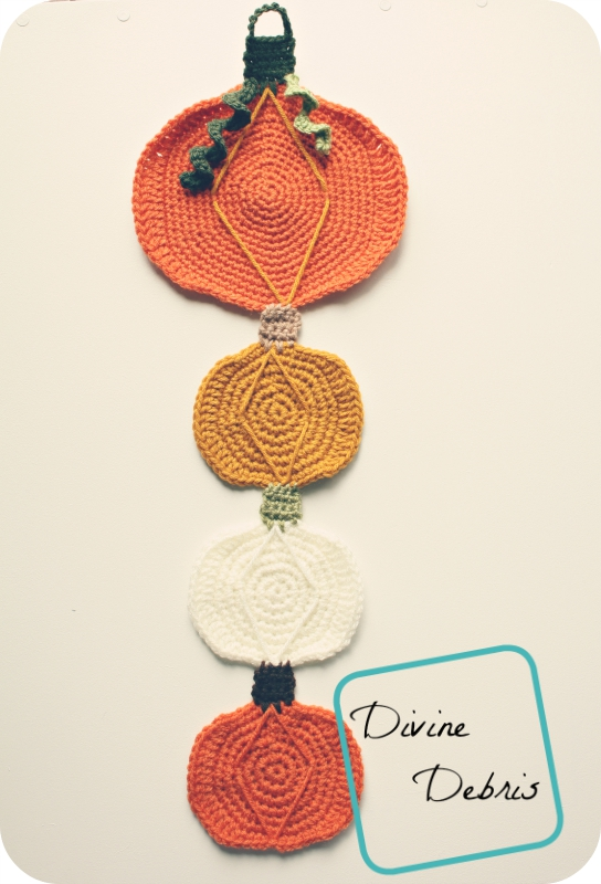 Yay! Fall! With the Pumpkin Wall Decoration free crochet pattern