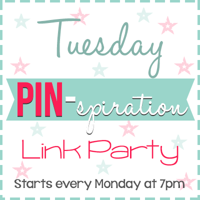 Tuesday PIN-spiration Link Party (I'm the featured blogger!)