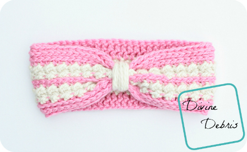 Diana Ear Warmer Crochet Pattern by DivineDebris.com