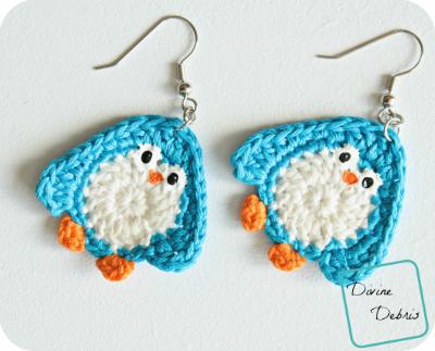 Penny Penguin applique crochet patterns by DivineDebris.com