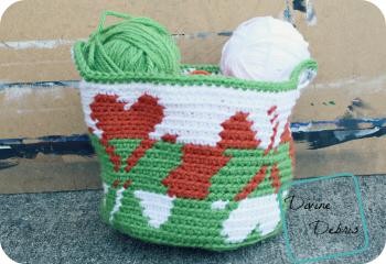 Free Shamrock Design Basket crochet pattern by DivineDebris.com