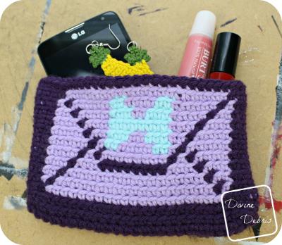 Envelope Clutch Purse crochet pattern by DivineDebris.com