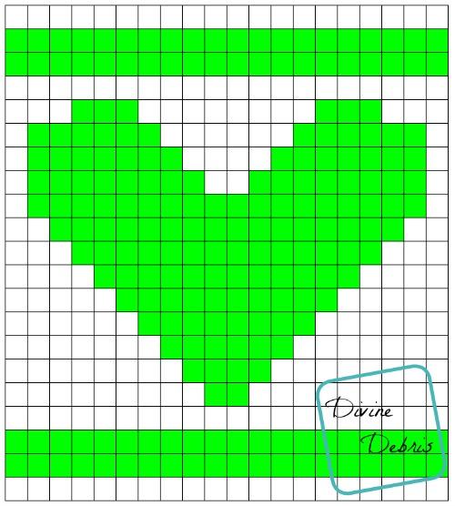 Sampler Heart Graph by DivineDebris.com